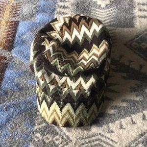 Cute chevron knit cap .